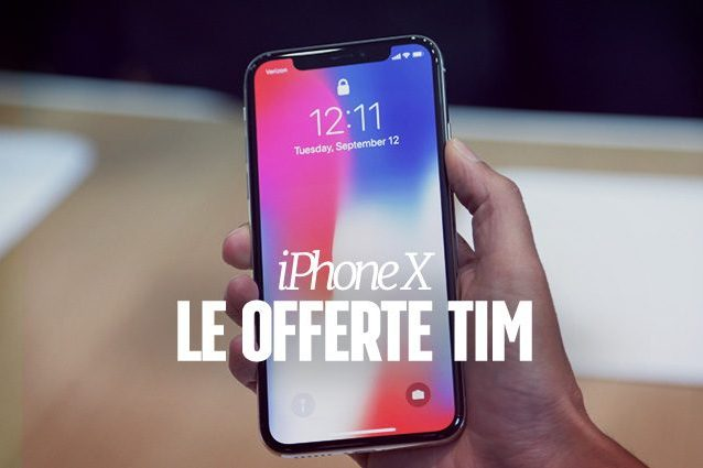 iPhone X, tutte le offerte TIM per l'acquisto del nuovo smartphone Apple