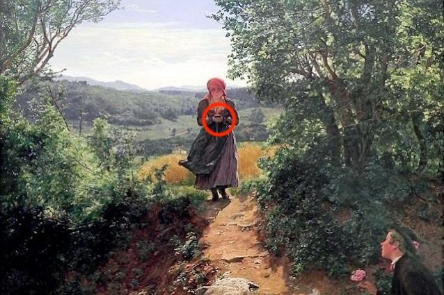 Uno smartphone in questo dipinto del 1860: tutta la verità sull'immagine