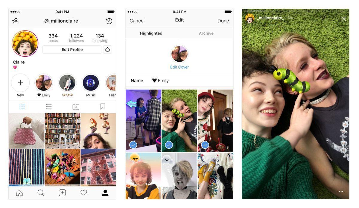 Nuova funzione consente di salvare le Storie — Instagram