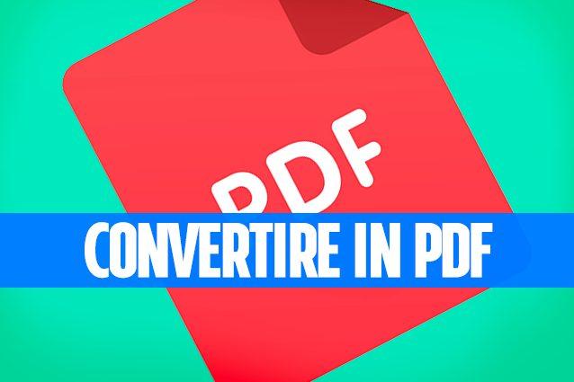 Convertire eMail, documenti e foto in PDF con Windows
