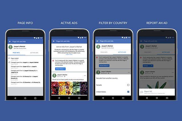 facebook informazioni inserzioni