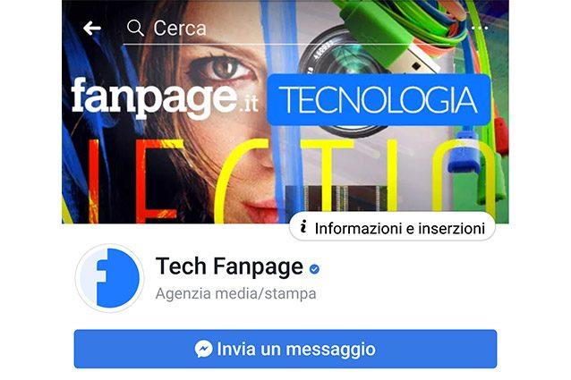 fanpage fb informazioni inserzioni