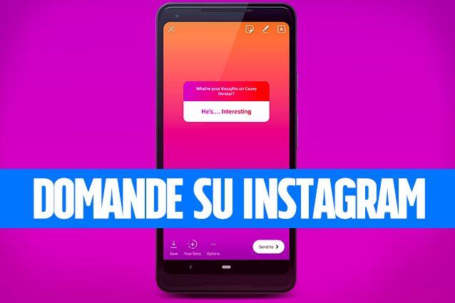 Sfondo nero nelle storie di instagram