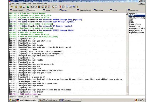 irc internet relay chat 30 anni