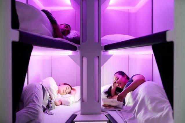 Ecco i voli con cuccetta per far riposare i passeggeri nelle