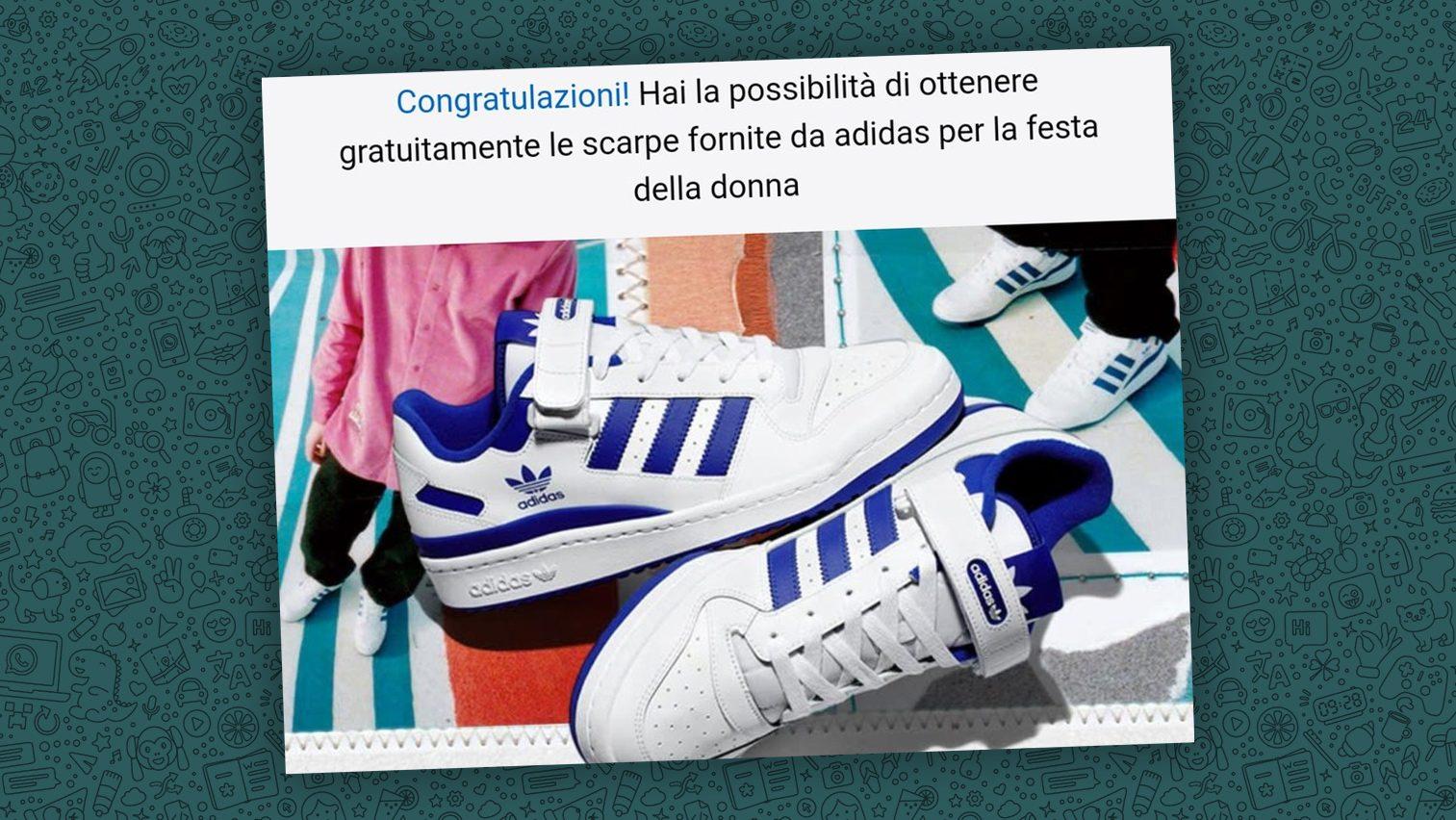 Hai ricevuto un messaggio su WhatsApp che ti regala Adidas per la ...