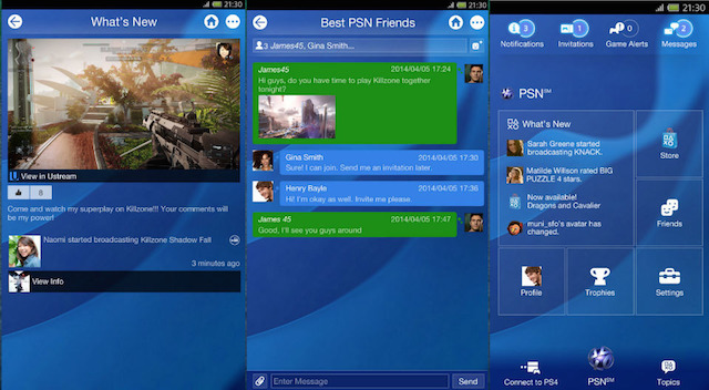 playstation 4 chat