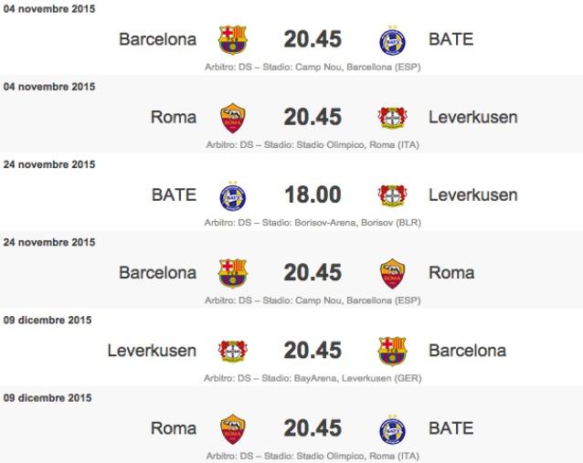 Calendario Champions Ottavi.Calendario Roma Champions Calendario 2020