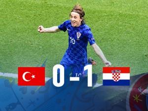 Euro 2016: gioiello di Modric, Croazia-Turchia 1-0