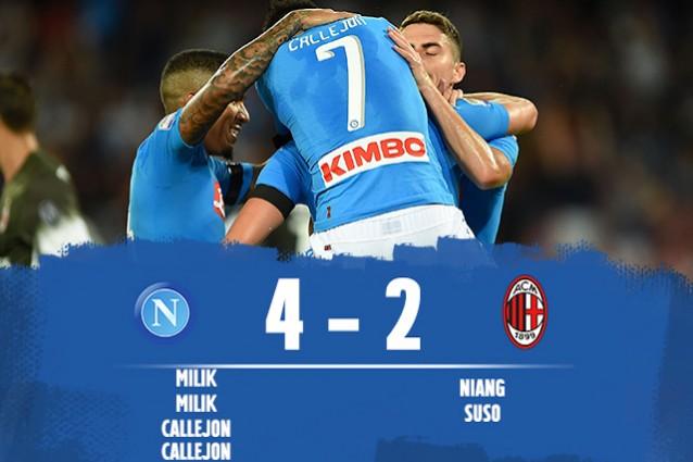 Napoli batte Milan 4-2