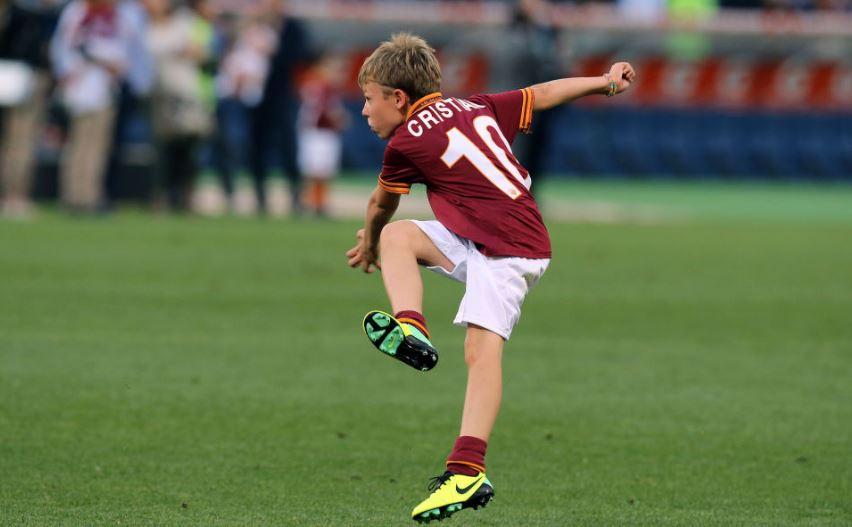 A Madrid Cristian Totti mette in luce classe e sportività