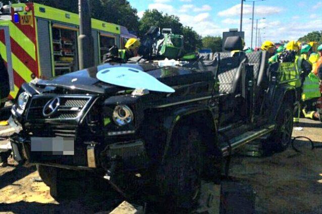 I danni provocati dall'incidente alla macchina di Papa Souaré