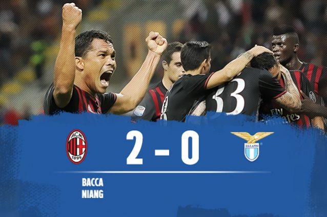 Milan batte Lazio 2-0