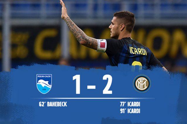 Inter batte Pescara 2-1
