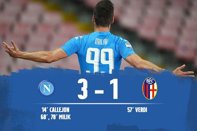 Napoli-Bologna 3-1