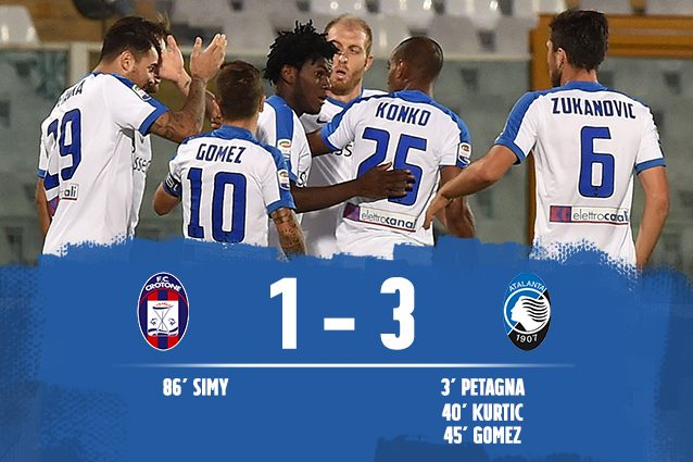 Crotone-Atalanta 1-3