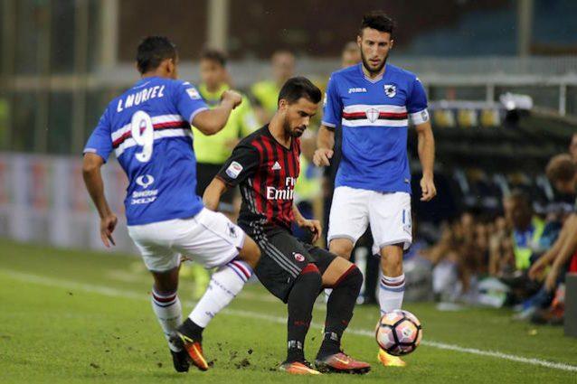 Fine primo tempo: Samp-Milan 0-0