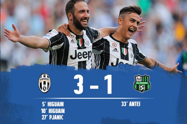 Juve batte Sassuolo 3-1