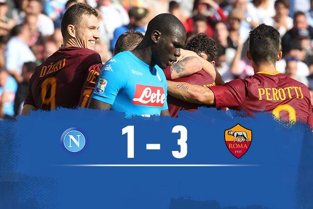 La Roma batte il Napoli 3-1