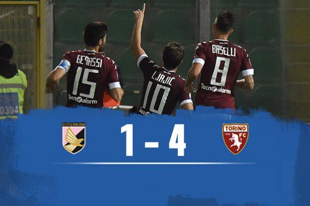Fischio finale: Torino batte Palermo 4-1