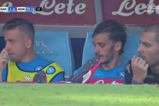 Gabbiadini esce, il Napoli segna: la faccia di Manolo