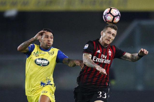 Fine primo tempo: Chievo-Milan 0-1