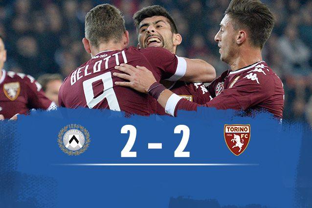 Udinese-Torino 2-2