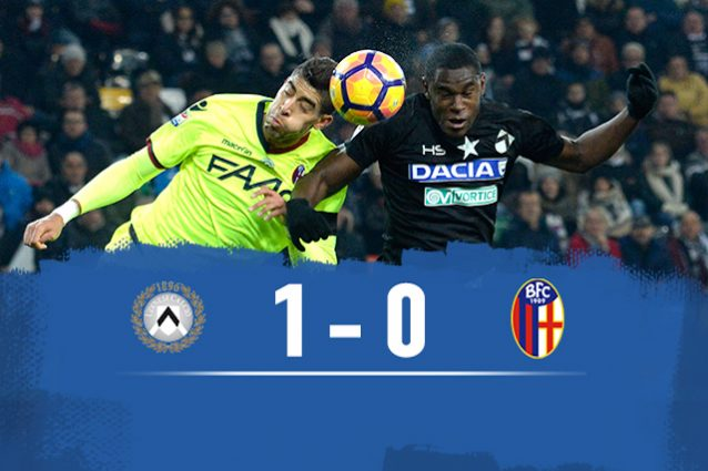 Udinese batte Bologna 1-0
