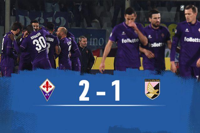 Fiorentina batte Palermo 2-1