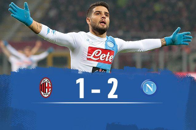 Il Napoli vince 2-1 a San Siro