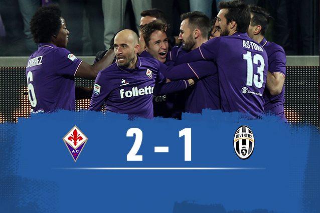 Fischio finale: Fiorentina batte Juventus 2-1