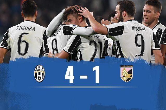 Juventus-Palermo 4-1