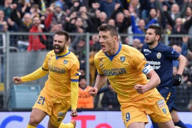 Serie B, il Frosinone inguaia il Verona. Floccari trascina la Spal
