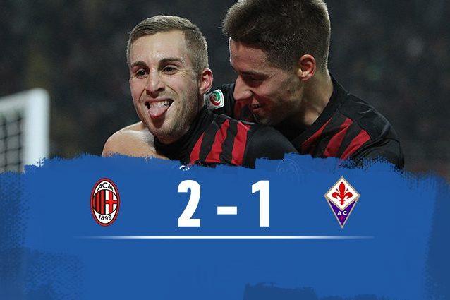 Milan batte Fiorentina 2-1