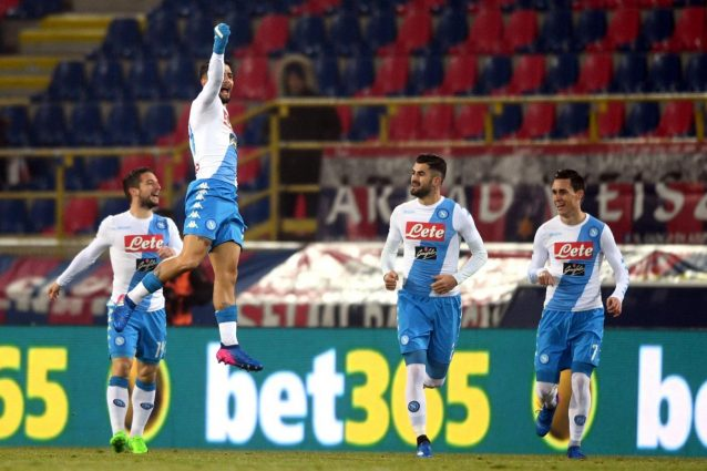 Fine primo tempo, Bologna-Napoli 1-4