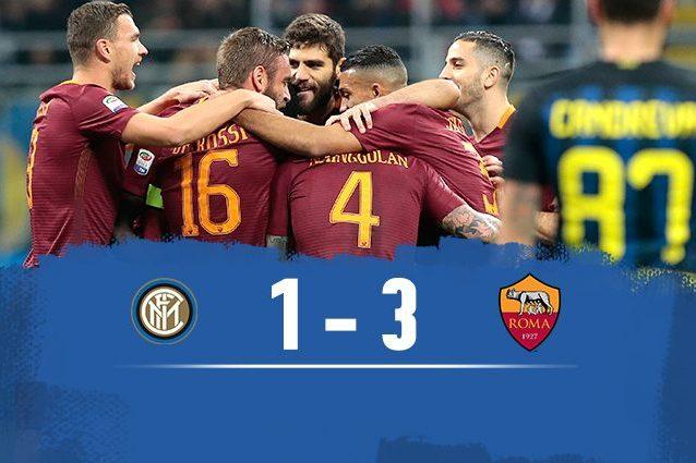 La Roma batte l'Inter 3-1