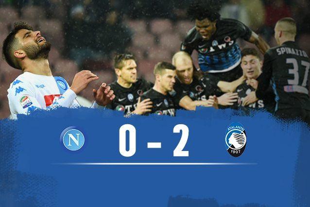 L'Atalanta vince 2-0 al San Paolo
