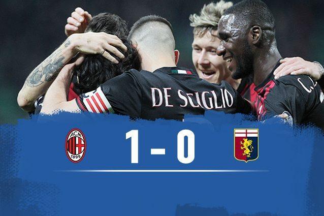 Il Milan riprende la corsa per l'Europa: Mati piega il Genoa