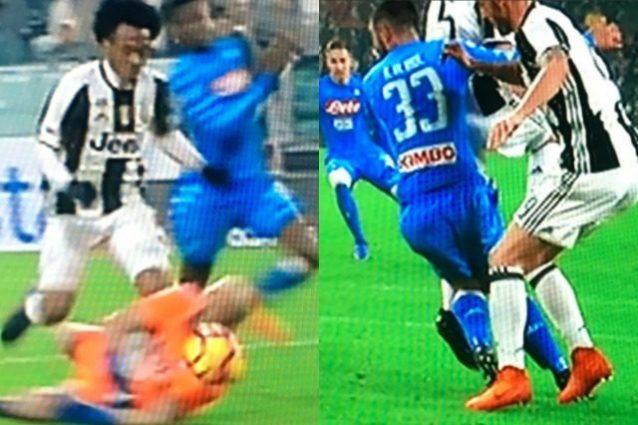 """Napoli, Raul Albiol torna sul rigore non dato contro la Juve: """"Non cado da solo"""""""