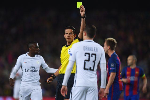 Aytekin rischia la sospensione dopo Barcellona-PSG