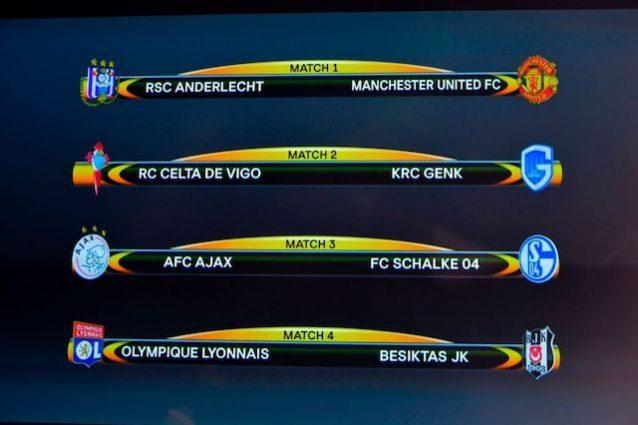 Gli accoppiamenti dei quarti di finale di Europa League