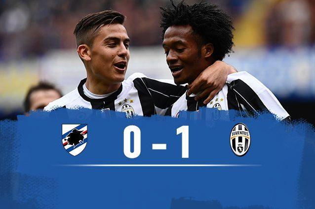 La Juve vince in casa della Sampdoria, decisivo Cuadrado