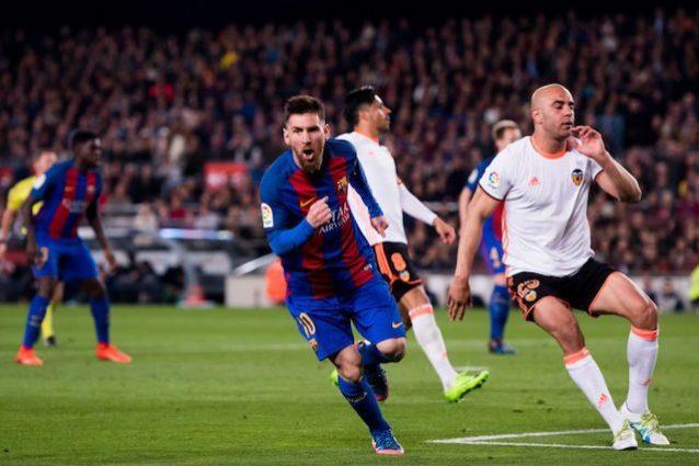 Messi show, il Barcellona regola il Valencia 4-2