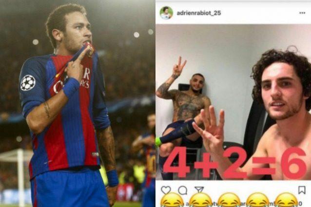Neymar si vendica: 4+2=6, il tweet sfotto' rivolto a Rabiot e Kurzawa