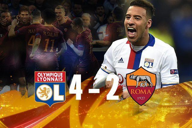 Il Lione batte la Roma 4-2