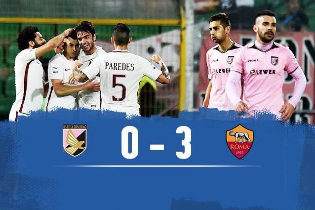 Roma batte Palermo 3-0