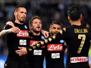 Napoli, macchina da gol: unica squadra d'Europacon 4 giocatori in doppia cifra