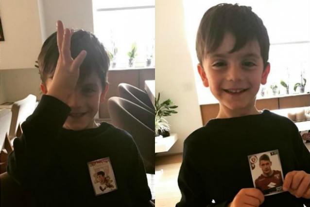 La felicità del figlio di Bonucci per il suo idolo Belotti