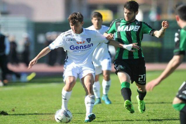 In foto l'attaccante della squadra Primavera del Sassuolo, Nicholas Pierini