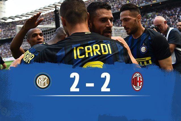 Testa cinese, cuore italiano: sotto di due gol, il Milan riprende l'Inter al 97esimo